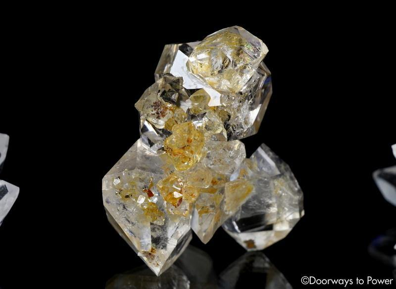 Herkimer Diamond DT Record Keeper Twin Crystal Cluster