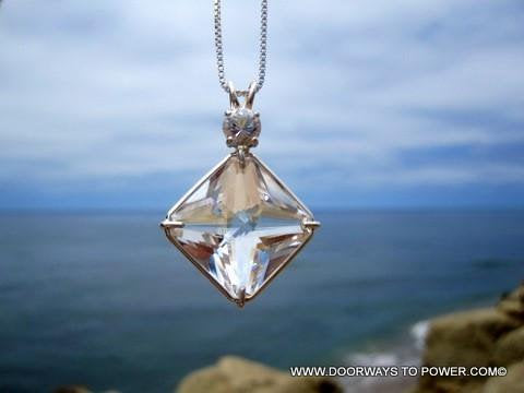 John of God Quartz Crystal Pendant