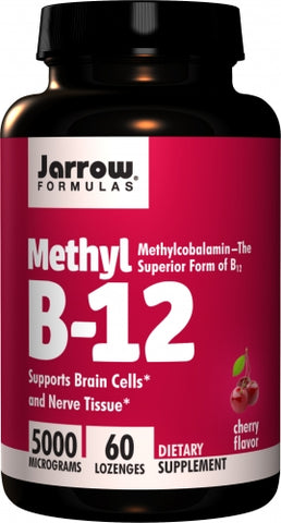 Jarrow Methyl B12, Methylcobalamin 5000mcg 60 lozenges