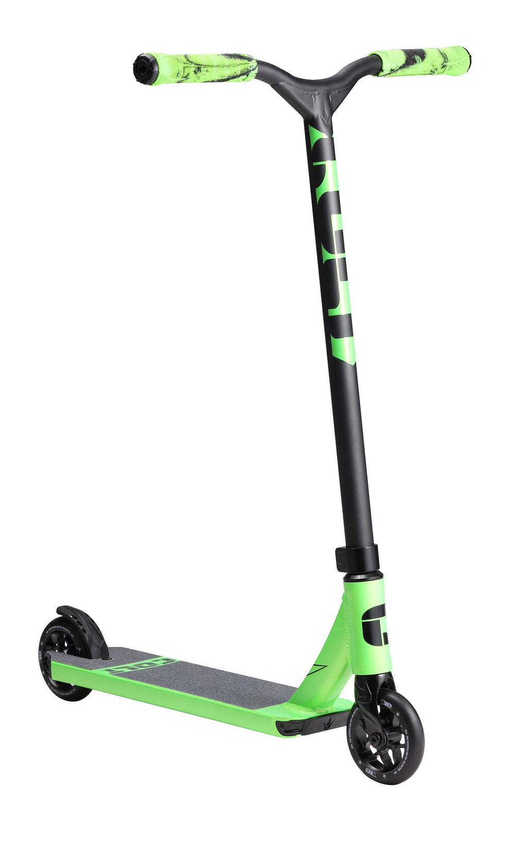 Black Green Blunt Envy Stunt Scooter - Main View