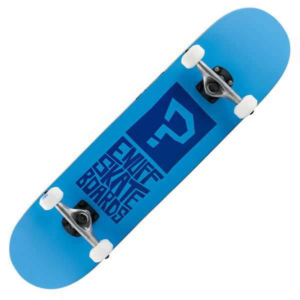 Enuff Block Icon Blue Complete Skateboard - Main View
