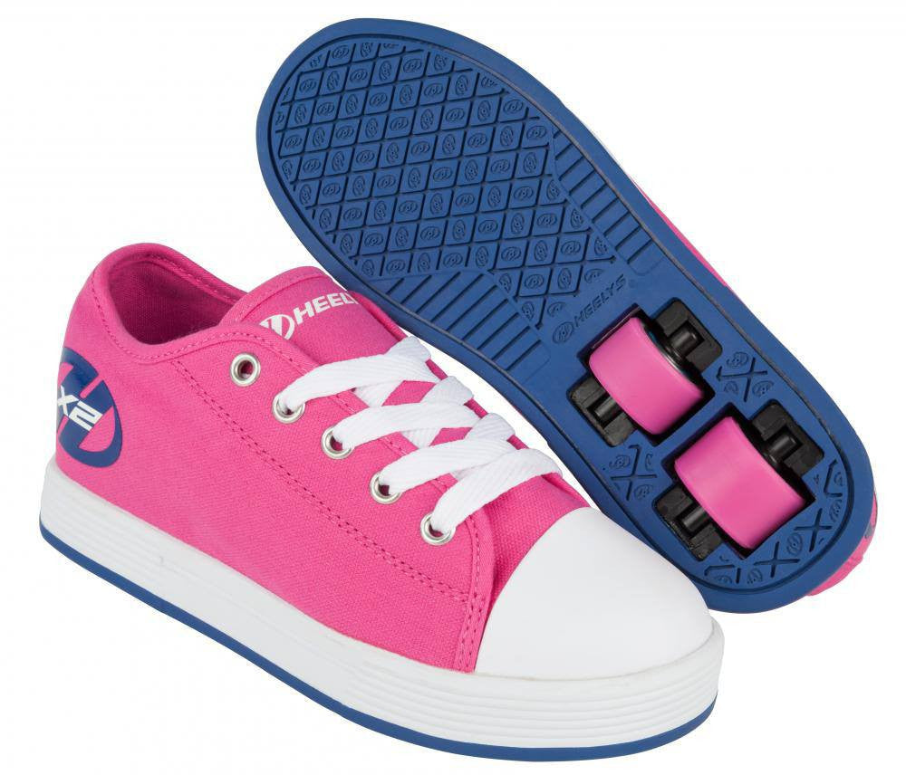 Heelys X2 Fresh Fuchsia Navy Girls Two Wheel Heelys - Main View