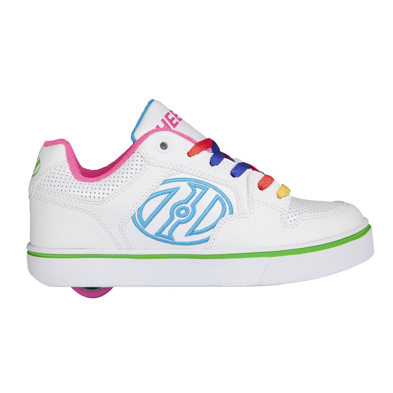 Heelys Motion Plus White/Rainbow - side view