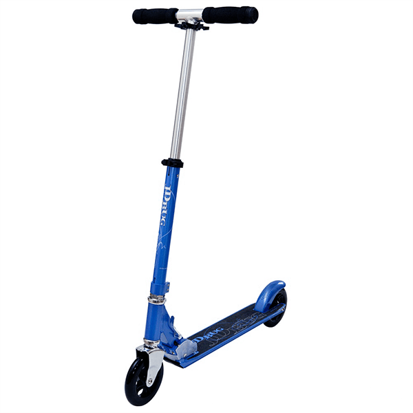 JD Bug Street 150 Reflex Blue Folding Push Scooter - Main View
