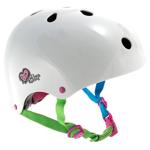 Rio Roller Candi White Adjustable Skate Helmet - Front View
