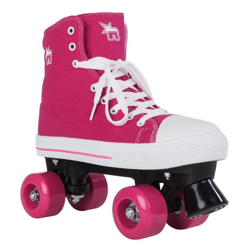 Rookie Canvas Pink Quad Roller Skates