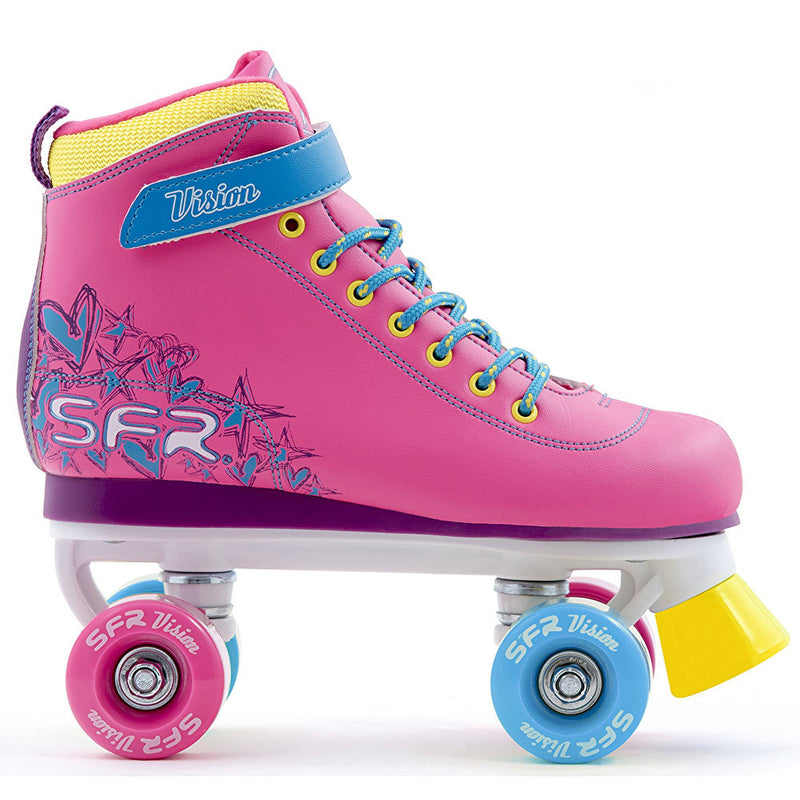 SFR Vision II Tropical Girls Quad Roller Skates - side view