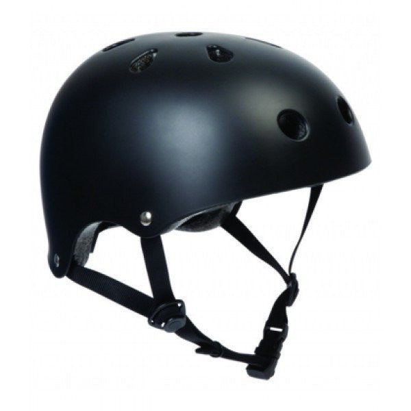 SFR Essentials Matt Black Adjustable Skate Bike Helmet - Main View