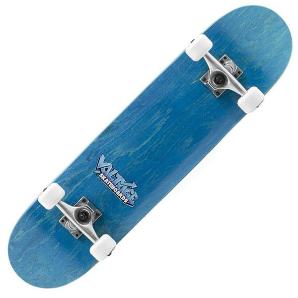 Voltage Graffiti Logo Blue Complete Skateboard - Main View