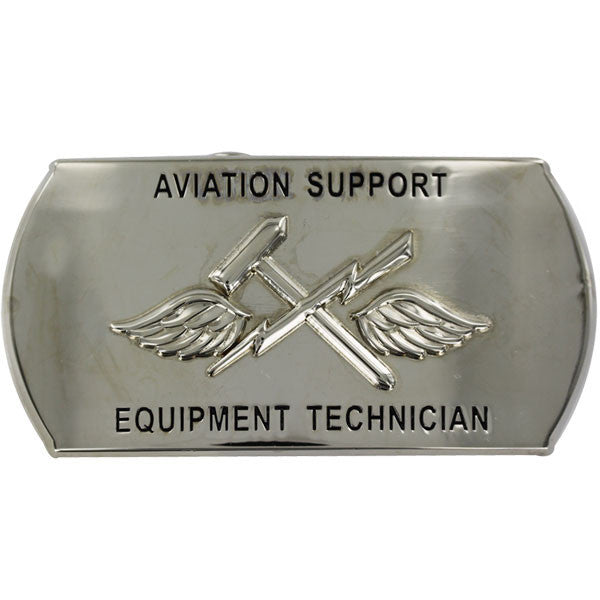 Navy Enlisted Specialty Belt Buckle: Aviation Support Equipment Tech