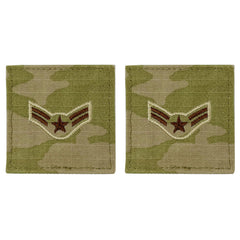 Air Force Embroidered Rank: Airman First Class - OCP with hook
