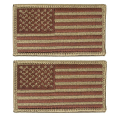 Air Force Flag Patch: United States of America - OCP spice brown and bagby green flag forward facing with hook closure