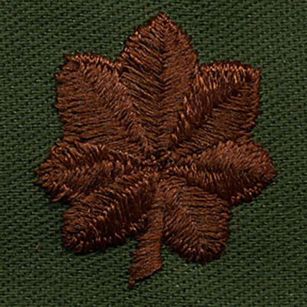Air Force Embroidered Rank: Major - embroidered on subdued fatigue (NON-REFUNDABLE)
