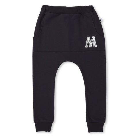 Minti Furry Pouch Trackies Black SIZE 2 & 3 LEFT