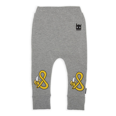 Band of Boys Organic Baby Harem Leggings Banana Marle Grey