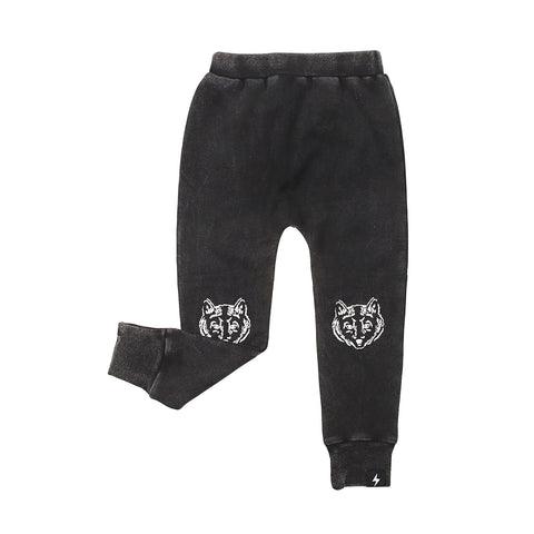Kapow Wolf Camo Trackies - Black Acid