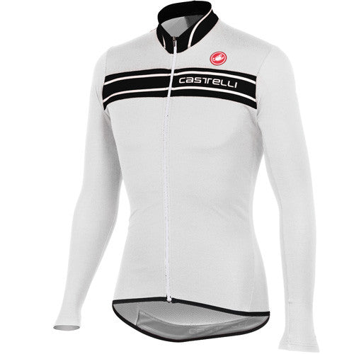 Castelli Mens Prologo 3 Long Sleeve Jersey - White