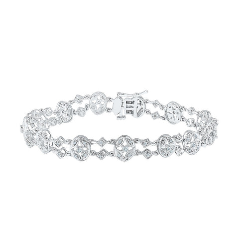 Festive special diamond bracelet  in white and yellow gold