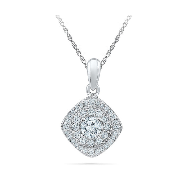 The Grandiose Diamond Pendant in 14k and 18k Gold online for women