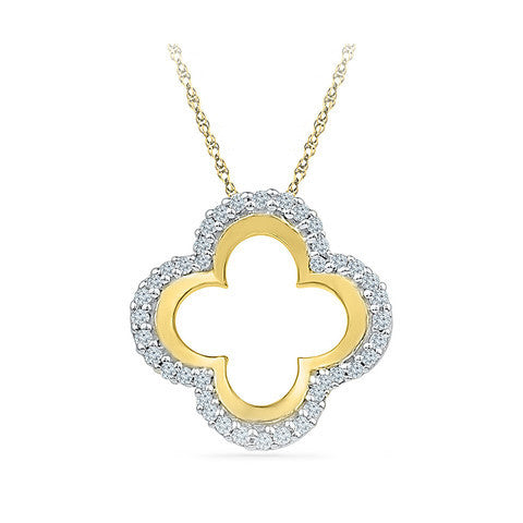 Open Clover Diamond Pendant