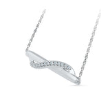 Pretty Swirl Bar Diamond Necklace