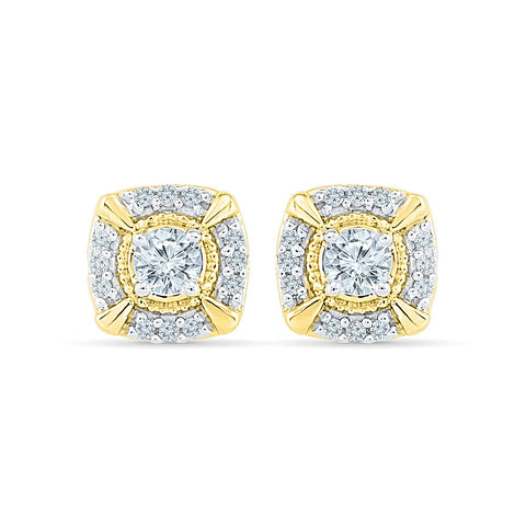 Effervescent Diamond Studs in 14k and 18k gold for women online
