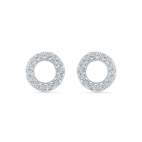 Euphony Circle Diamond Earrings in 14k and 18k gold for women online