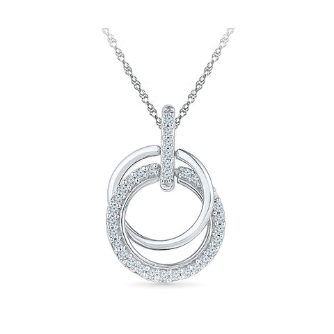 Flawless Fiesta Diamond Pendant in 14k and 18k Gold online for women