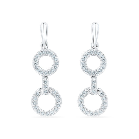 Contemporary Charm Diamond Danglers in 14k and 18k gold for women online