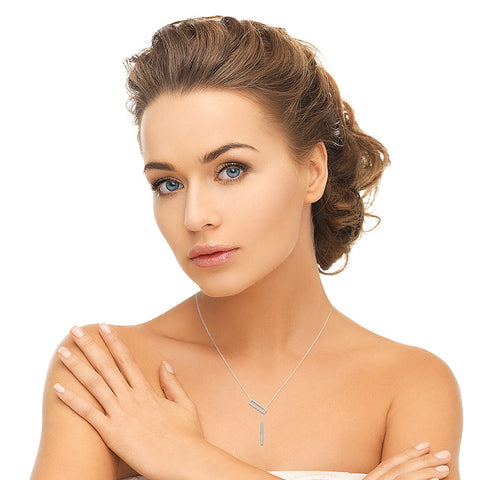 Elegant Diamond Bar Lariat