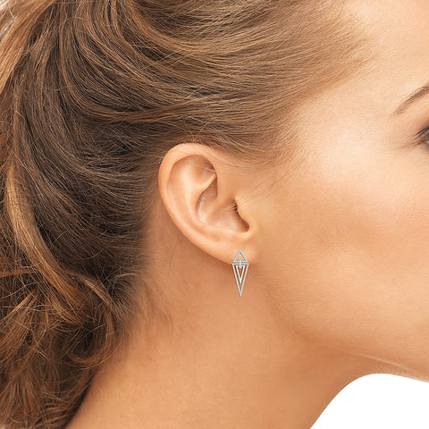 Geometric Classic Diamond Drop Earrings