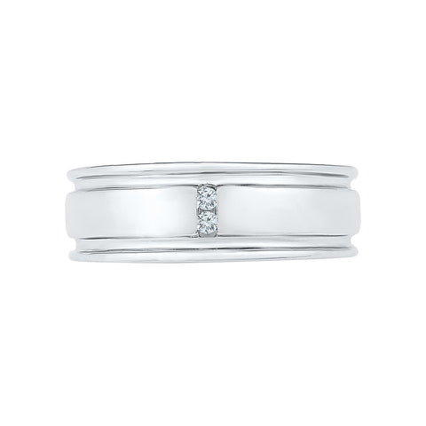 Two Stone Diamond Band For Men