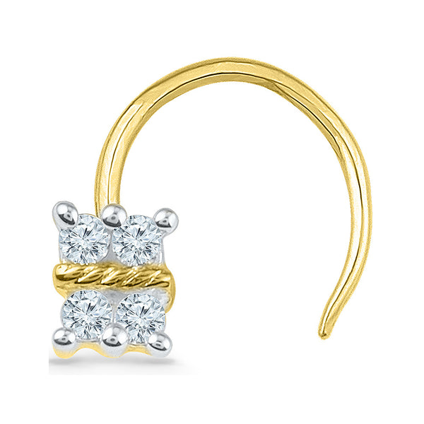 The Oblong Diamond Nose Pin