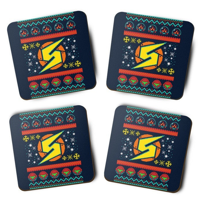 A Metroid Christmas - Coasters