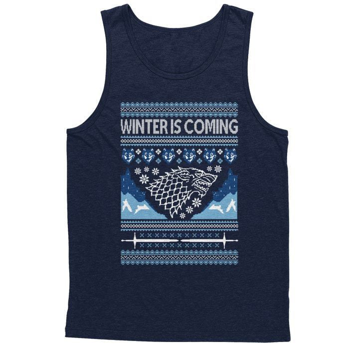 Hoildays are Coming (Blue) - Men's Tank Top