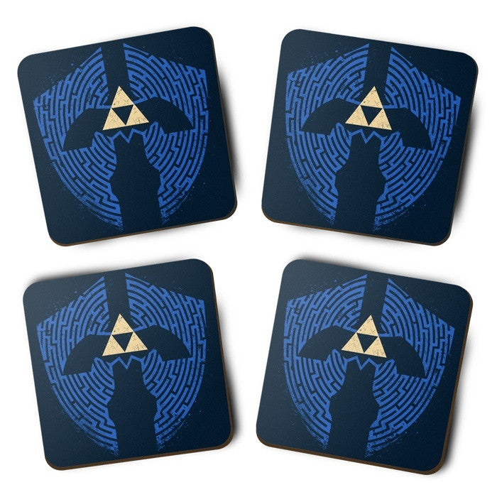Triforce Labrynth - Coasters