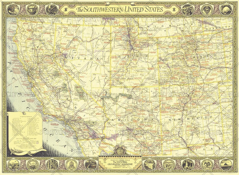 Southwestern United States  -  Published 1940