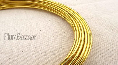 12 gauge aluminum craft and jewelry wire, 2mm round, 39 ft., gold