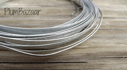 Aluminum wire for jewelry or crafts, 5mm flat embossed, 16 ft. coil, silver