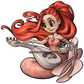 Musician Mermaid Digi Stamp