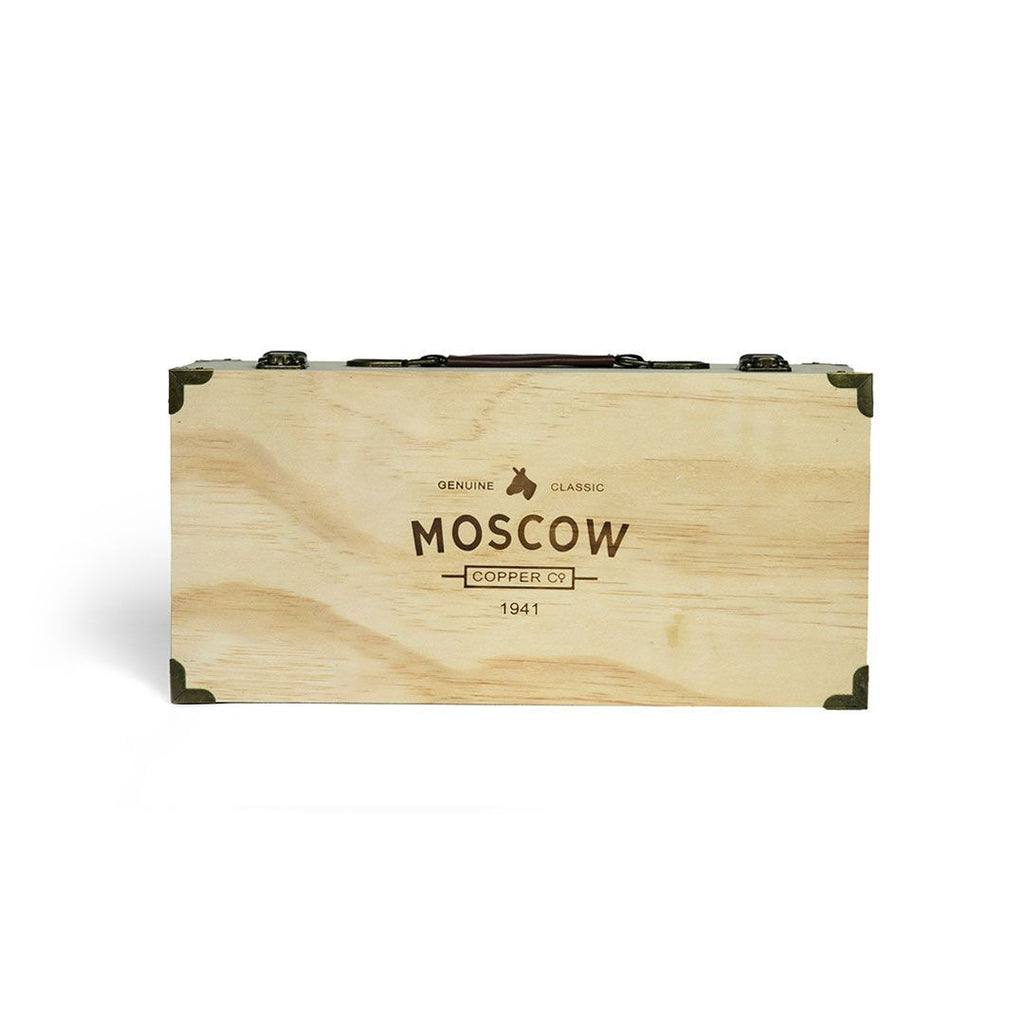 Moscow Copper Co.'s original mule mugs come in a beautiful pine box.
