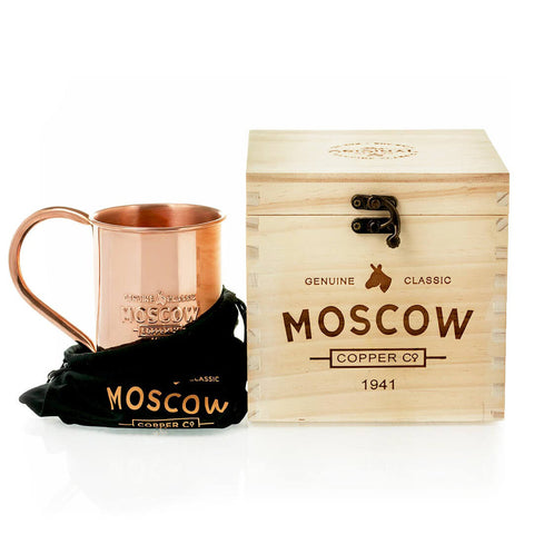 Order our 100% Original Copper Mugs in a custom wooden box for the perfect gift!
