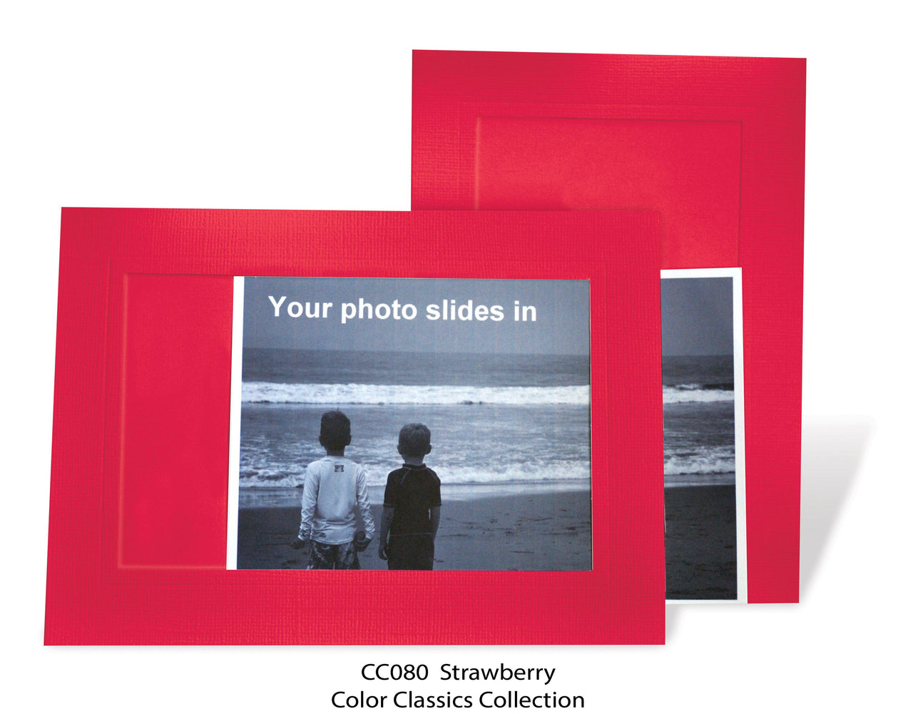 Strawberry Photo Insert Note Cards - Color Classics collection (color #CC080)