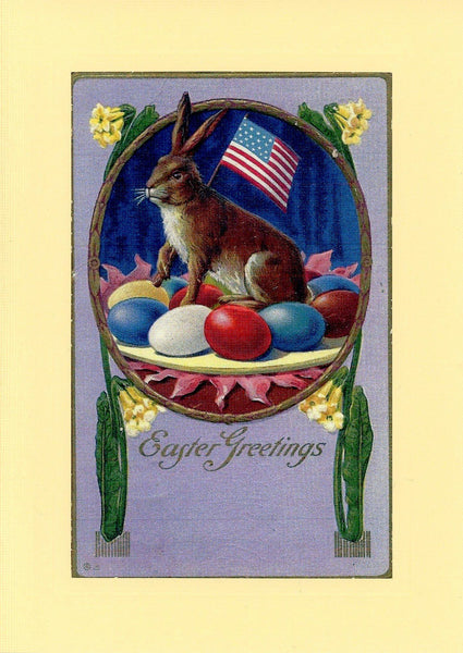 Patriotic Easter Bunny - PLYMOUTH CARD COMPANY  - 1