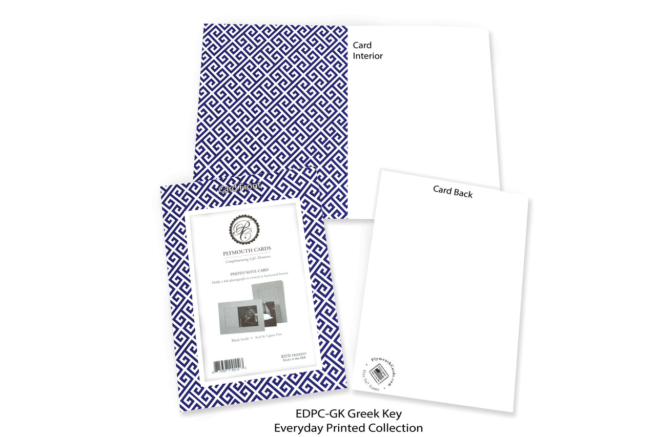 Greek Key Photo Insert Note Cards - Everyday Printed collection (color #EDPC-GK)