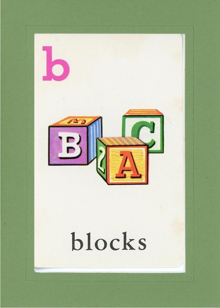 B is for blocks - PLYMOUTH CARD COMPANY  - 8