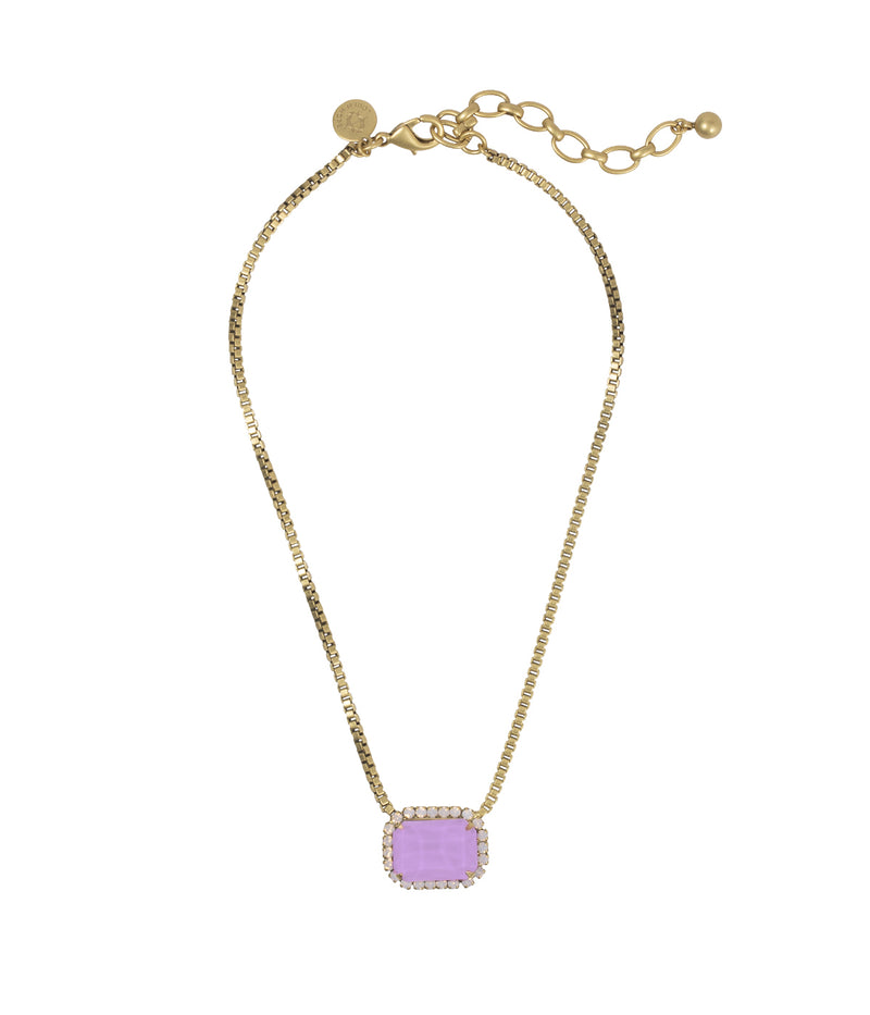 KATE SHORT NECKLACE IN ORCHID