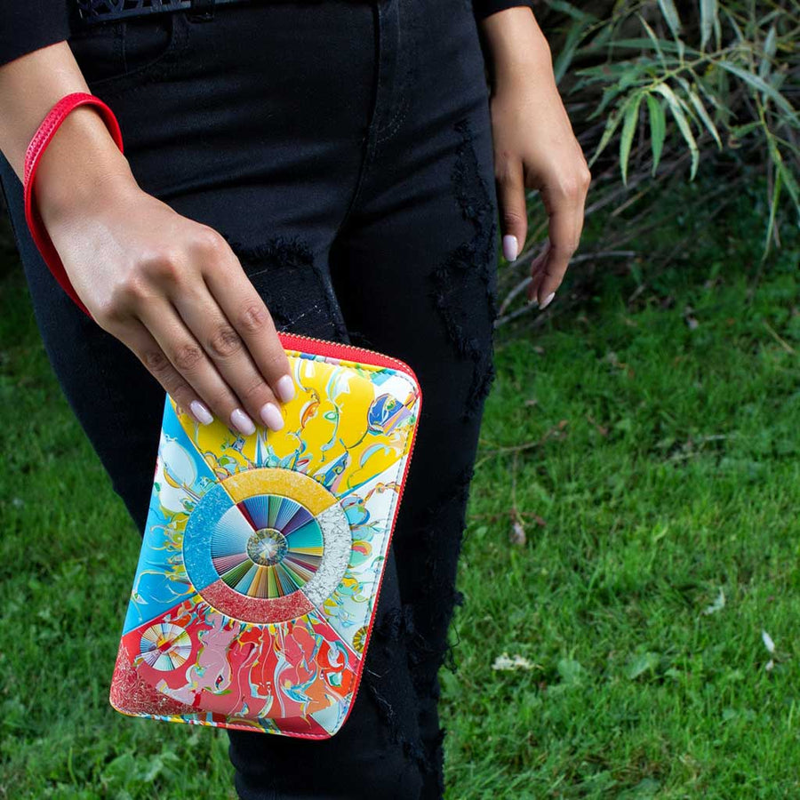 'Morningstar' Travel Wallet by Alex Janvier