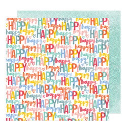 Happy Life 12 x 12 Double Sided Paper