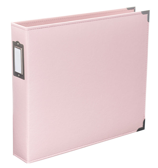 Project Life 12 x 12 Baby Pink Classic Leather D-Ring Binder Album